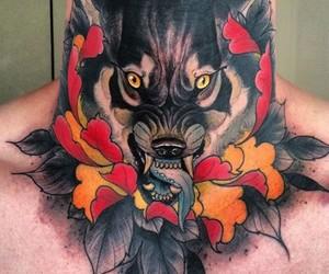 Tattoos, wolf, and tattoo+ image