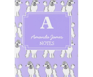 journal, lavender, and poodle image