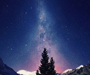 beauty, sky, and forest image