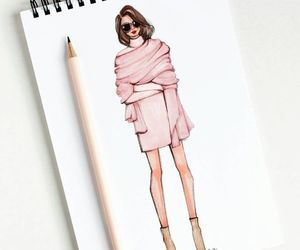 art, drawing, and fashion image