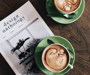 coffee, morning, and book image