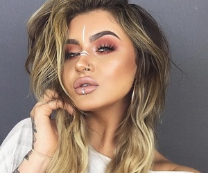 makeup, festival makeup, and youtuber image