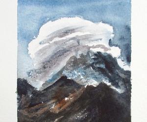 art, clouds, and landscape image
