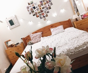 beautiful, bed, and decoration image