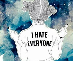 bad girl, hairstyle, and i hate everyone image