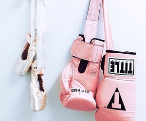 ballet, boxing gloves, and glamorous image