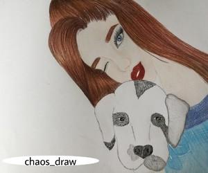 dog, draw, and ariana image
