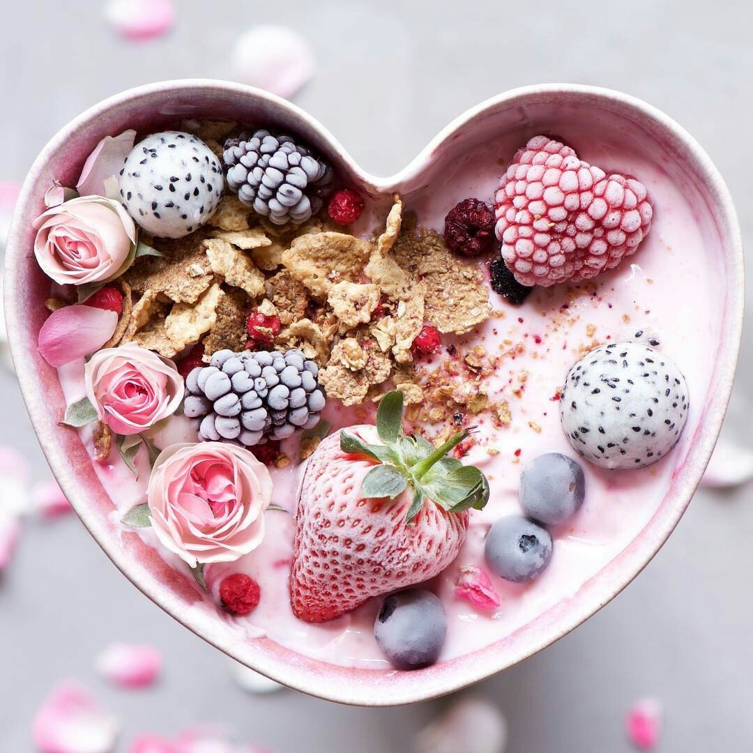 fruit, heart, and food image