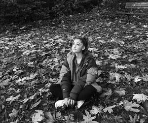ariana grande and black and white image