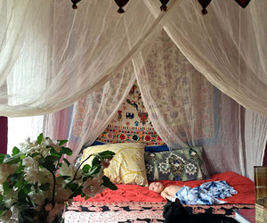 apartment, bedroom, and bohemian image