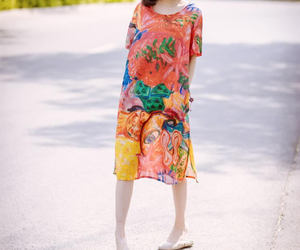 etsy, summer dress, and round collar image