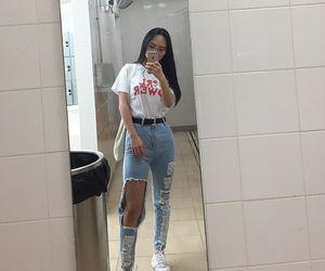 girl, mirror, and pretty image