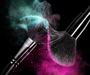 Brushes, pink, and makeup image