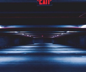 exit, red, and tumblr image
