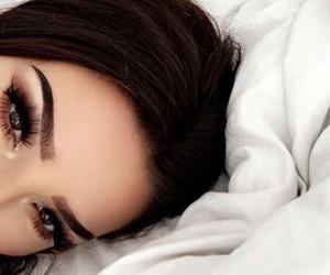 makeup, eyebrows, and hair image