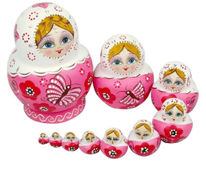 items, nesting dolls, and pink image