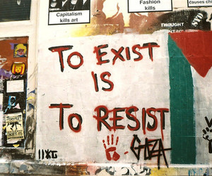 quote, palestine, and resist image