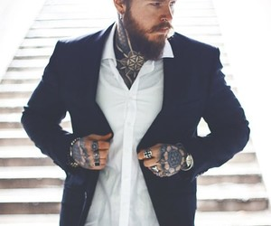 suits, tattooed men, and kevin creekman image