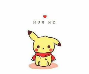 hug, pikachu, and cute image