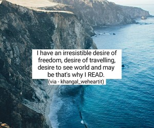 book, quote, and wanderlust image