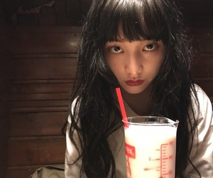 asian, blackhair, and girl image