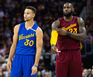 curry and LeBron James image