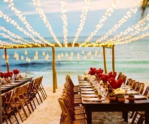 wedding, beach, and light image