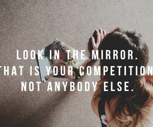quote, competition, and yourself image