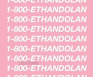 pink, wallpaper, and ethan dolan image