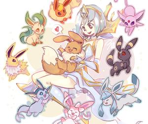eevee, lux, and pokemon image