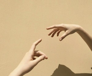 hands, aesthetic, and beige image