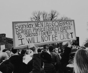 feminism, protest signs, and women's march image