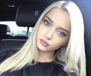 blonde, girl, and eyes image