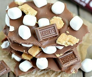 chocolate, food, and s'mores image