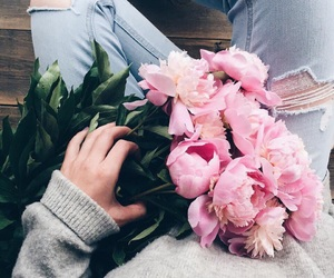 flowers, pink, and style image