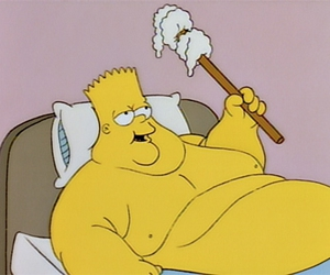 fat, simpsons, and funny image
