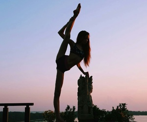 ballerina, flexible, and sunset image
