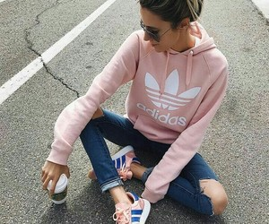 adidas, pink, and style image
