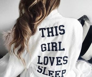 sleep and girl image