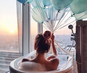 balloons, bath, and style image
