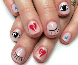 nails, heart, and eyes image