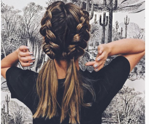 blonde, braid, and ombre image