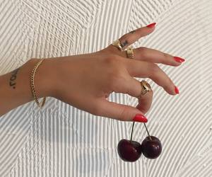 nails, cherry, and gold image