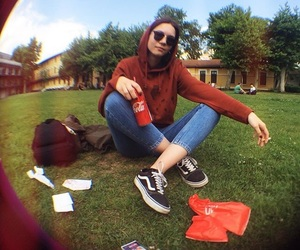 cocacola, college, and fisheye image