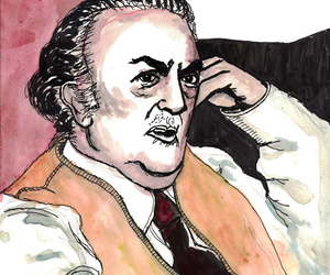 caricature, Federico Fellini, and porträt image