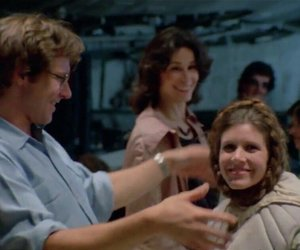 han solo, harrison ford, and Princess Leia image