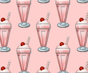 beautiful, milkshake, and pattern image