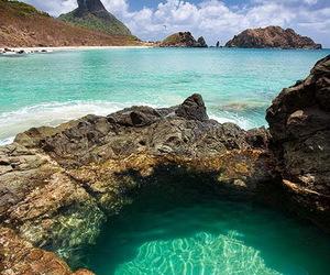 beach, travel, and brazil image