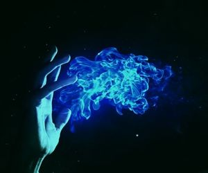 blue, fire, and magic image