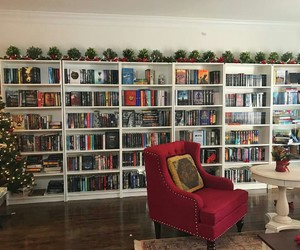 books, christmas, and cozy image
